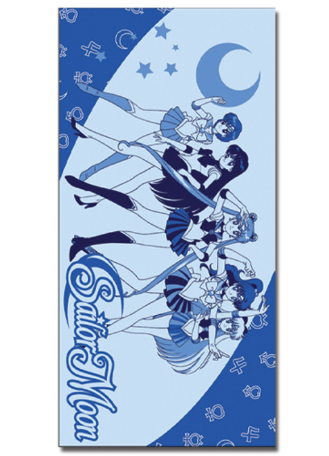 Sailor Moon Main Characters Beach Towel