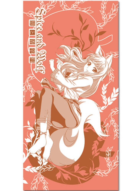 Spice and Wolf Holo With Wheat Background Beach Towel