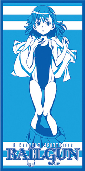 A Certain Scientific Railgun Mikasa In a Swimsuit Beach Towel