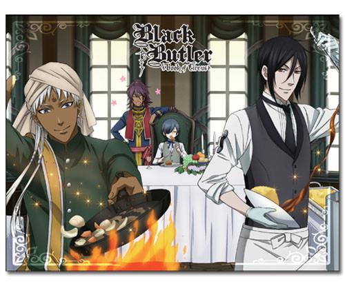 Black Butler Sebastian Cooking Throw Blanket