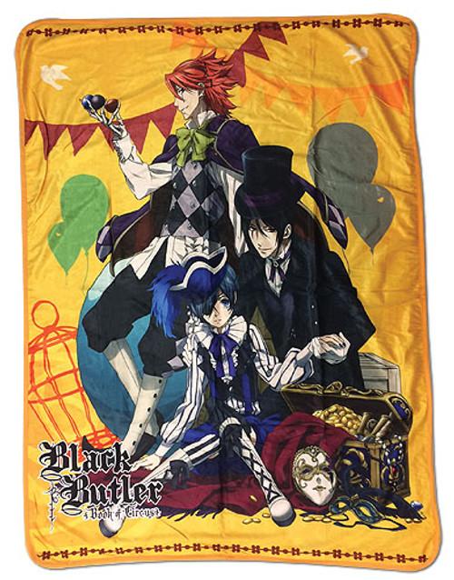 Black Butler Book of Circus Sebastian, Ciel, and Joker Throw Blanket