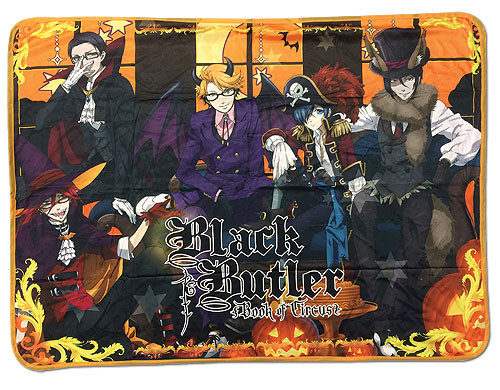 Black Butler Book of Circus Ciel, and Sebastian, with Grim Reapers Throw Blanket