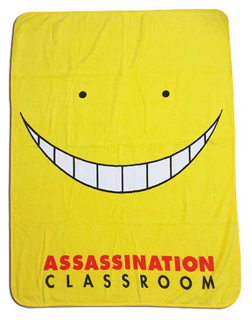 Assassination Classroom Korosensei's Face Throw Blanket