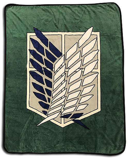 Attack On Titan - Scout Regiment Symbol Throw Blanket