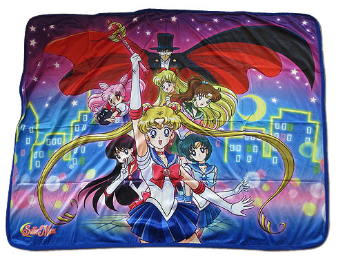 Sailor Moon Sailor Warriors, with Tuxedo Mask Throw Blanket