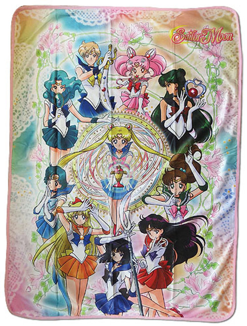 Sailor Moon Sailor Warriors with Weapons Throw Blanket