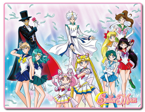 Sailor Moon S Sailor Warriors With Helios, and Tuxedo Mask Throw Blanket