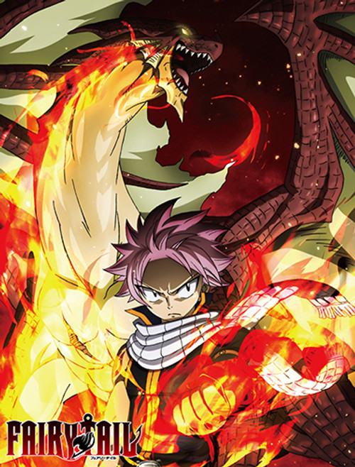 Fairy Tail Natsu, and Igneel Throw Blanket