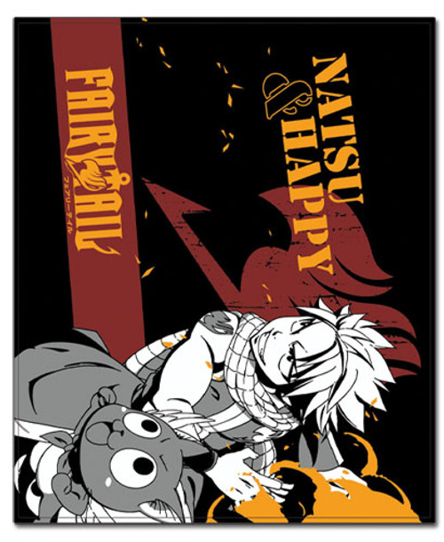 Fairy Tail Natsu, and Happy Throw Blanket