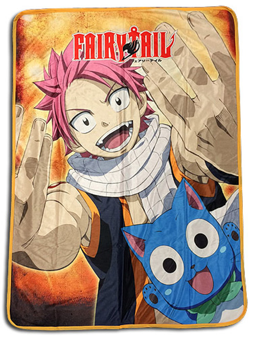 Fairy Tail Natsu, and Happy 2 Throw Blanket