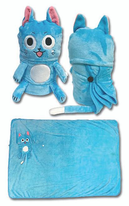 Fairy Tail Happy Throw Blanket