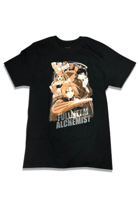 Fullmetal Alchemist - Edward, Alphonse, Wenry, Armstrong, And Mustang Attacking T-Shirt