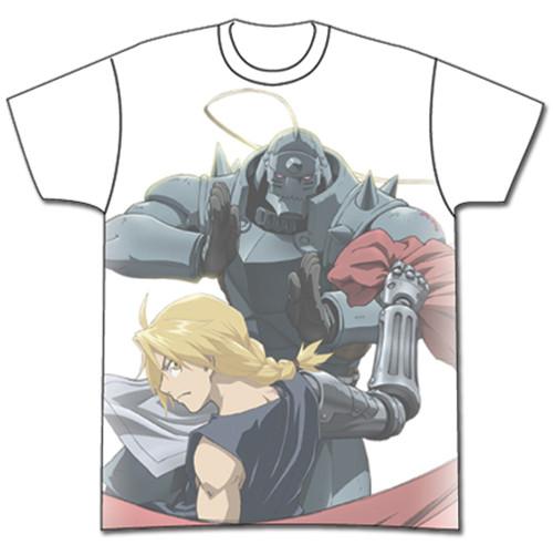 Fullmetal Alchemist Brotherhood - Ed And Al Fighting Poses Key Art T-Shirt