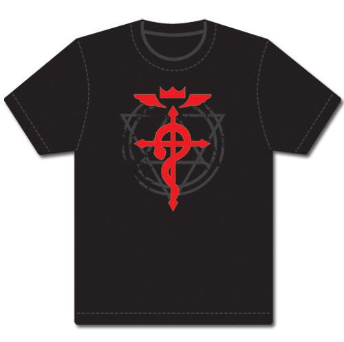 Fullmetal Alchemist Brotherhood - Red Flamel Cross T-Shirt