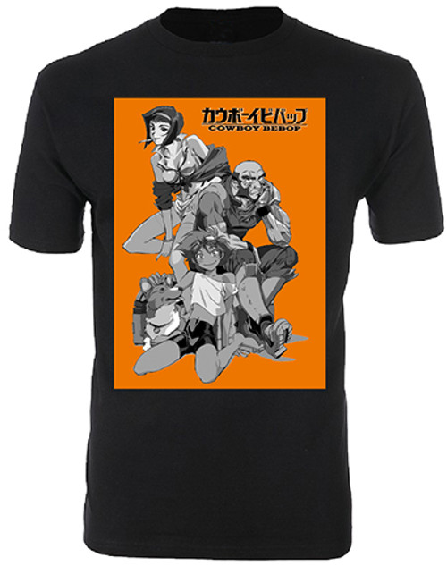 Cowboy Bebop - Faye, Jet, Edward, And Ein T-Shirt