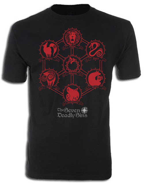 Seven Deadly Sins Symbols Of the Sins' Beasts T-Shirt