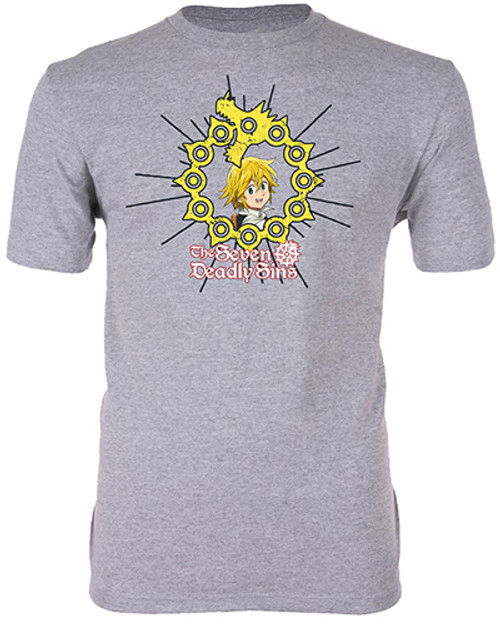 Seven Deadly Sins Meliodas Framed By His Dragon Sin Of Wrath Tattoo T-Shirt
