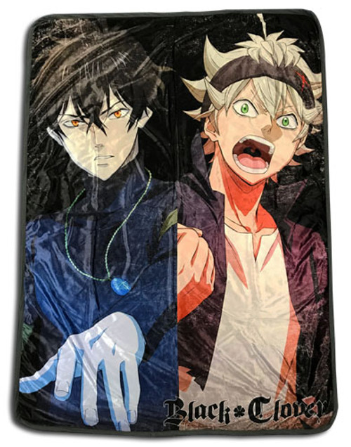 Black Clover - Asta, and Yuno Throw Blanket