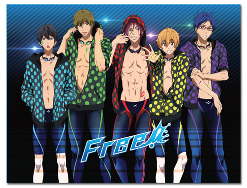 Free! Group in Swimsuits Throw Blanket