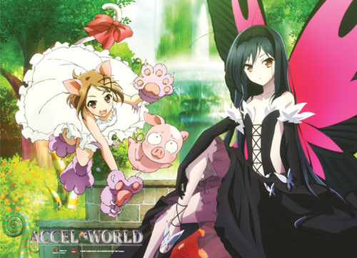 Accel World - Group In Their Network Avatars Wall Scroll