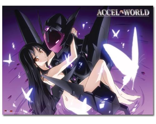 Accel World - Kuroyukihimie And Black Lotus Wall Scroll