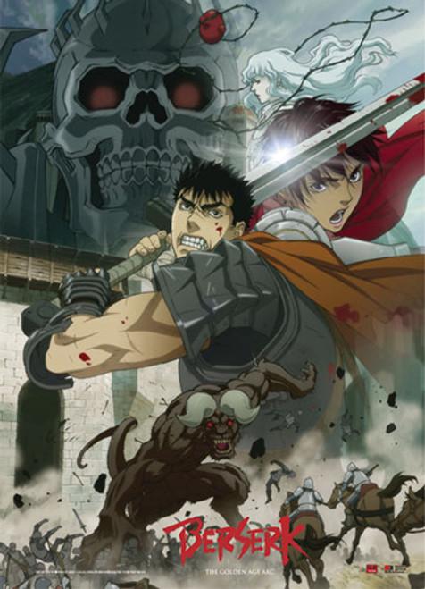 Berserk - Fighting Scene Wall Scroll
