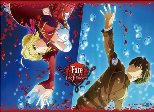 Fate Extra Last Encore - Saber Reaching Out To Hakuno Key Art Wall Scroll
