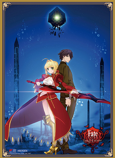 Fate Extra Last Encore - Hakuno And Saber Key Art High End Wall Scroll