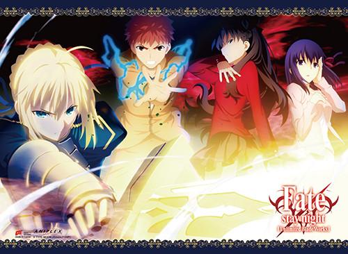 Fate Stay Night - Rin, Saber, Shirou, And Sakura Wall Scroll