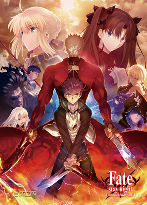 Fate Stay Night - Shirou And Archer Key Art Wall Scroll