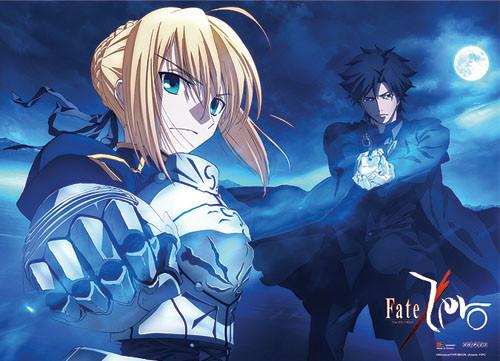 Fate Zero - Saber And Kiritsugu Fighting Pose Wall Scroll