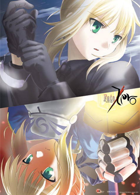 Fate Zero - Saber In Different Outfits Wall Scroll