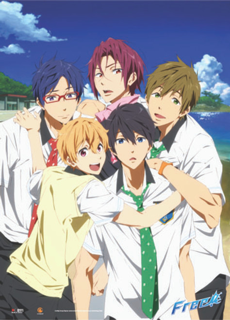 Free! - Main Characters In School Uniforms Wall Scroll