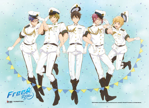 Free! - Main Characters In Sailor Uniforms Wall Scroll