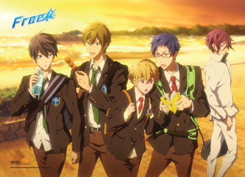 Free! - Main Characters Walking Home From School Wall Scroll