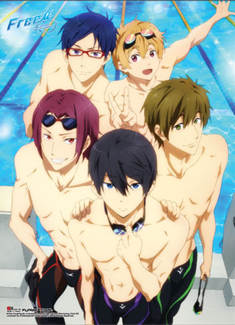 Free! 2 - Main Characters Getting Ready To Swim Special Edition Wall Scroll