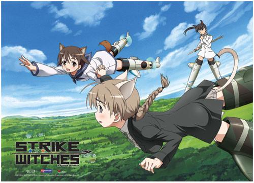 Strike Witches Miyafuji, Lynette, and Francesca Wall Scroll