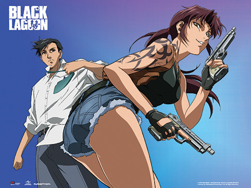 Black Lagoon - Revy Two Hands And Rock Wall Scroll