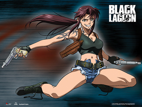 Black Lagoon - Revy Two Hands Wall Scroll