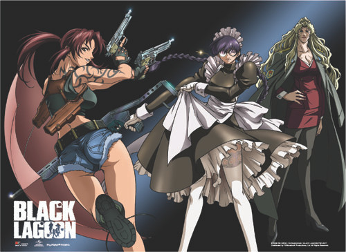 Black Lagoon - The Women Ready For Battle Wall Scroll