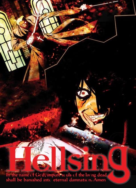 Hellsing Alucard Vs Vampire Priest Wall Scroll