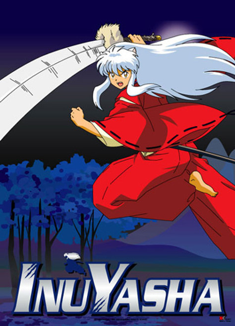 InuYasha With Sword At The Ready Wall Scroll