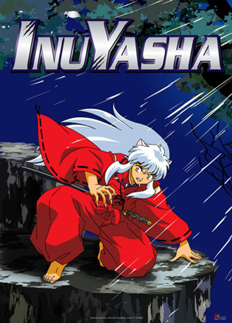 InuYasha Ready To Use His Claws Wall Scroll