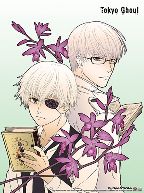 Tokyo Ghoul Ken, and Arima With Books Wall Scroll