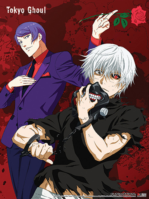Tokyo Ghoul Ken, and Shuu With A Rose  Wall Scroll