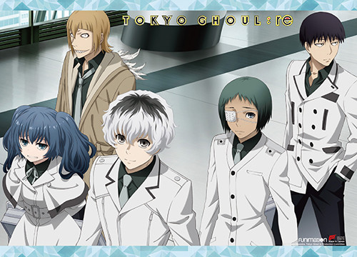 Tokyo Ghoul The Orignal Members Of Quinx Squad Wall Scroll