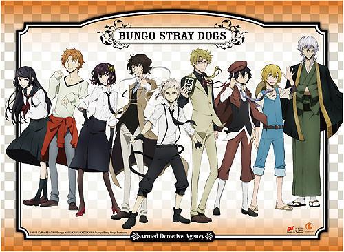 Bungo Stray Dogs - Atsushi, Osamu, Doppo, And Akiko Wall Scroll