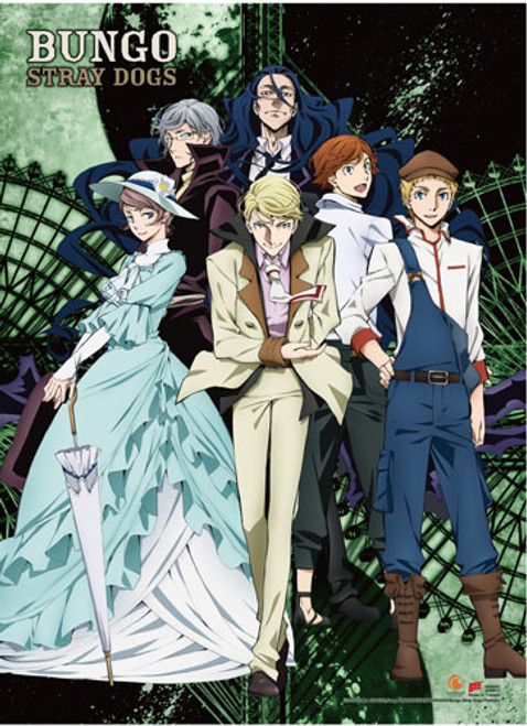 Bungo Stray Dogs - The Guild Group Key Art Wall Scroll