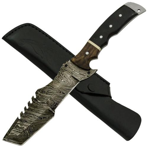 Buffalo Horn, Full Tang Damascus Steel Dagger