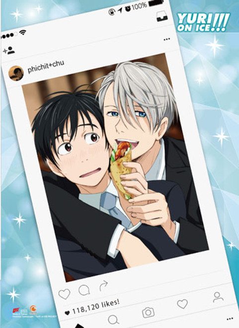 Yuri On Ice Victor, and Yuri Social Media Picture Wall Scroll